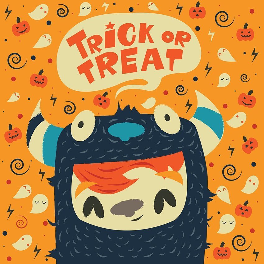 Illustrator Trick or Treat Illustration by Anna Barbulescu