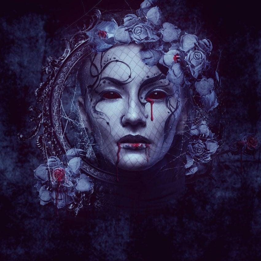 Dark Gothic Portrait Photo Manipulation by Liya Rybakova