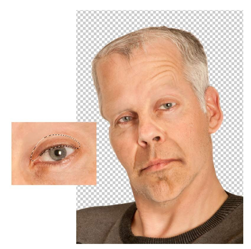 Create Frankensteins Droopy Eyes and Frown Lines