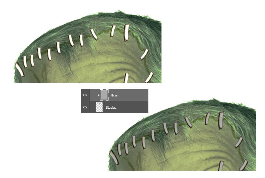 Color the Staples with Layer Blend Modes