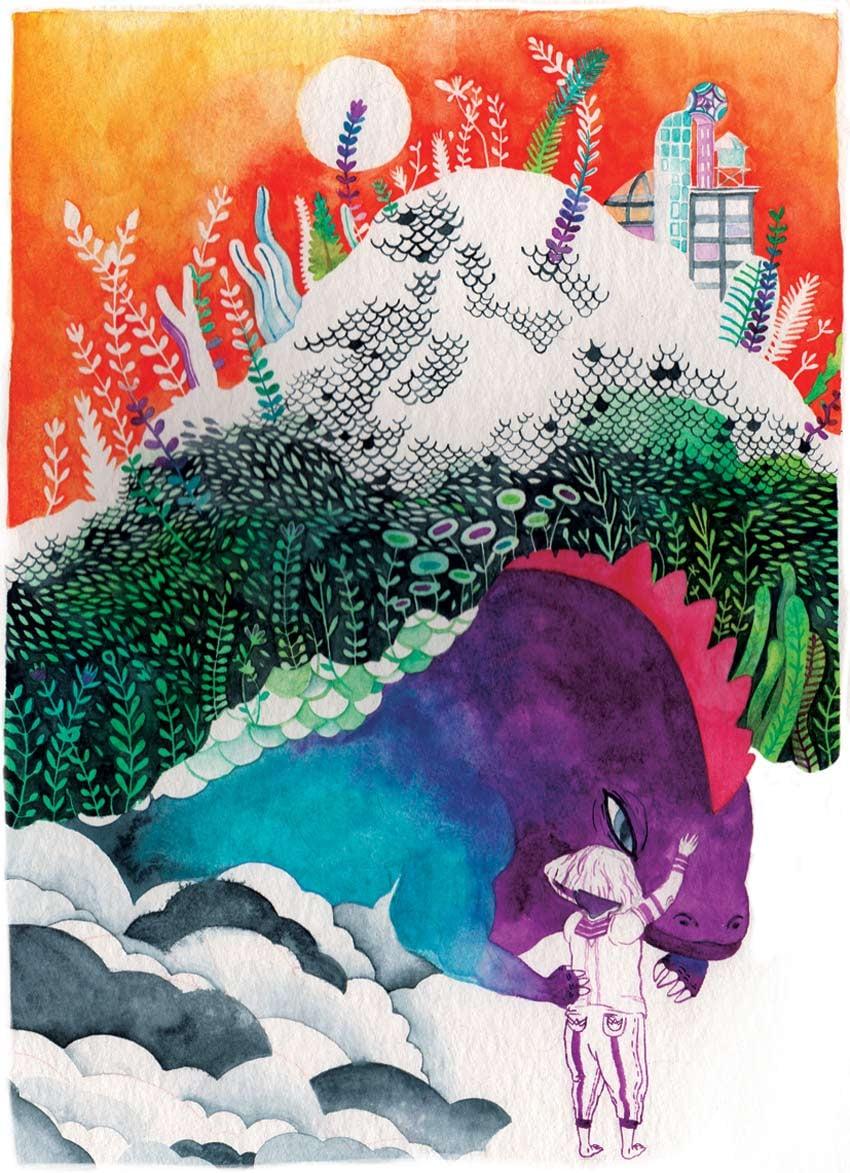 Dinosaur Friend Art by Daniela Arias