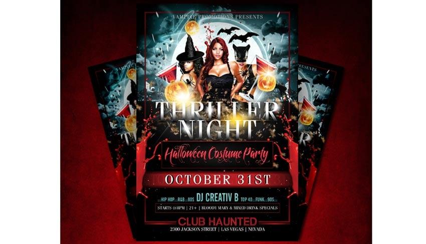 Sexy Thriller Halloween Flyer