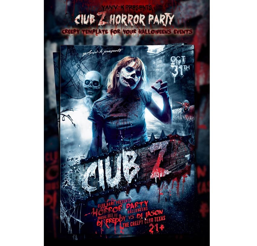 Club Z Horror Party Template