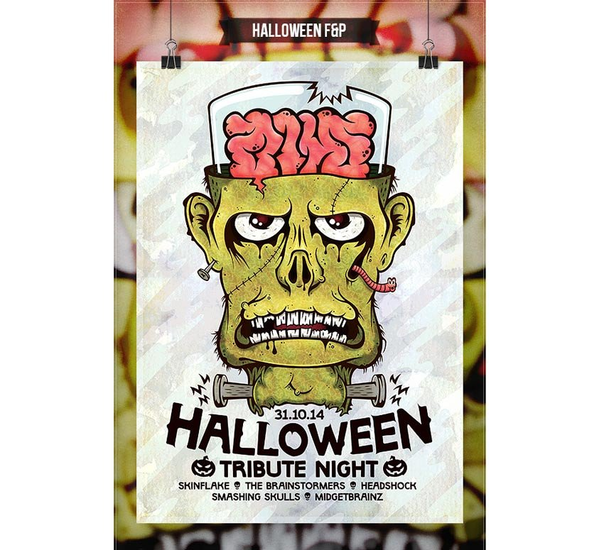 Frankenstein Halloween Flyer