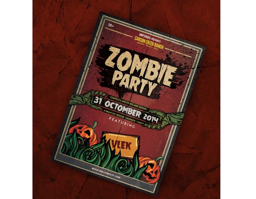 Zombie Party Halloween Flyer