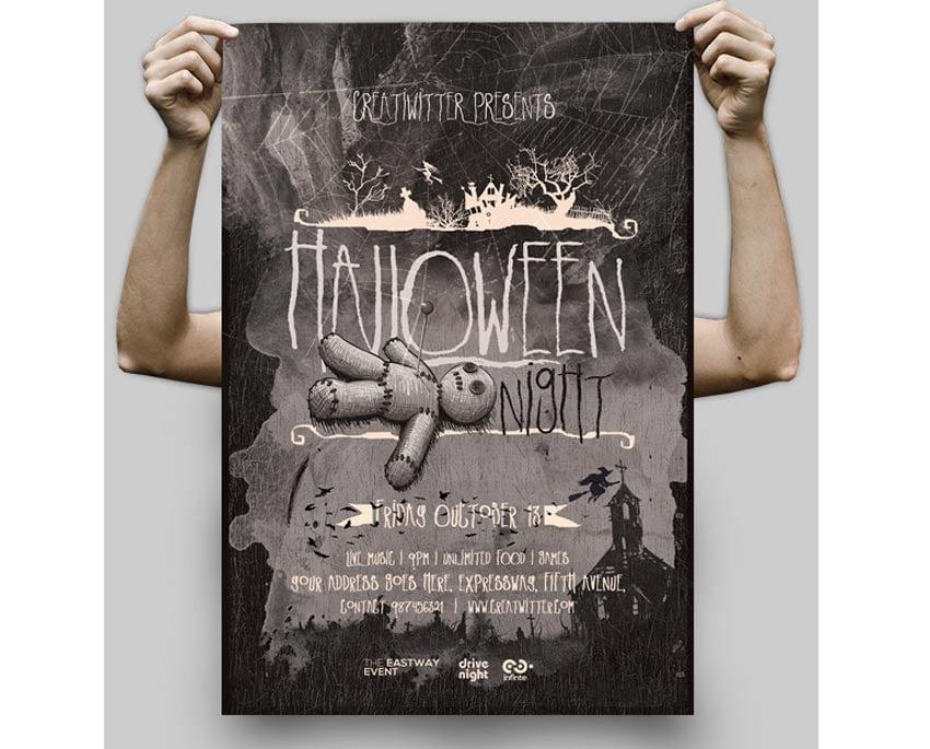 Voodoo Doll Halloween Flyer