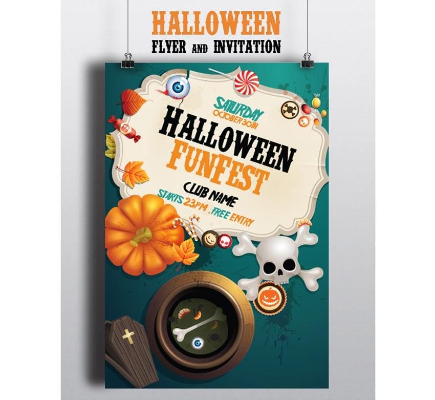 Halloween Invitation Flyer Pack