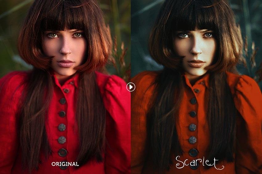 Scarlet Fantasy Photoshop Action