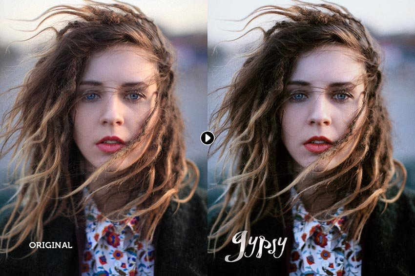 Gypsy Portrait Photoshop Actions Download