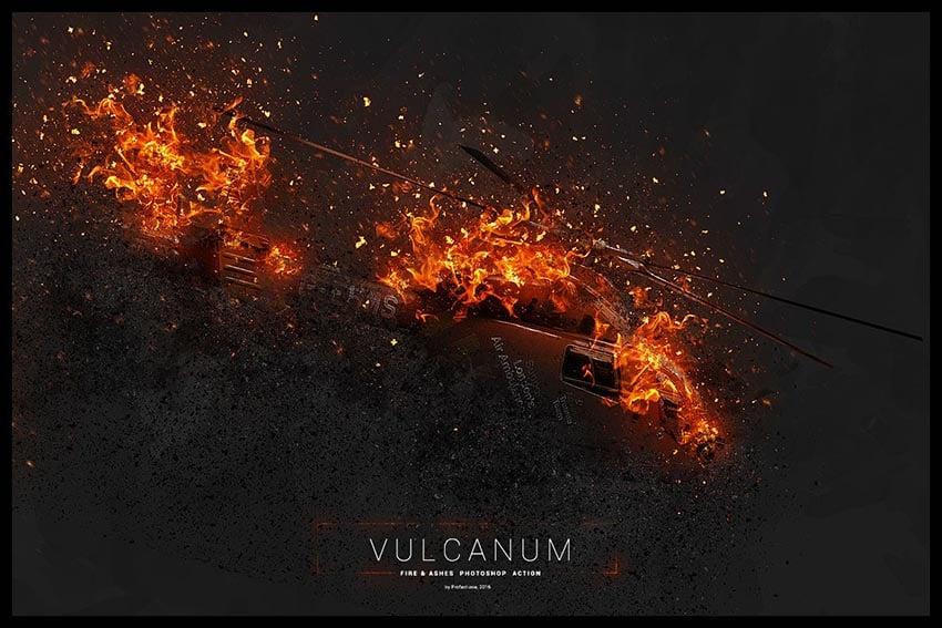 Vulcanum - Fire Ashes Photoshop Effect