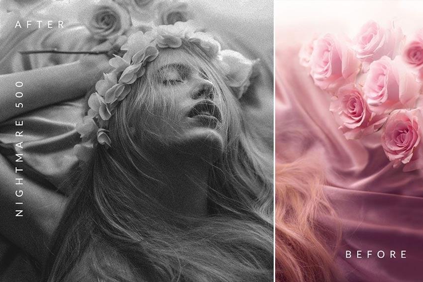 Carbonium - Black  White Photoshop Actions Download