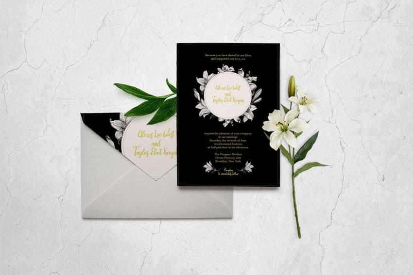 Classic Wedding Invitation Card Template