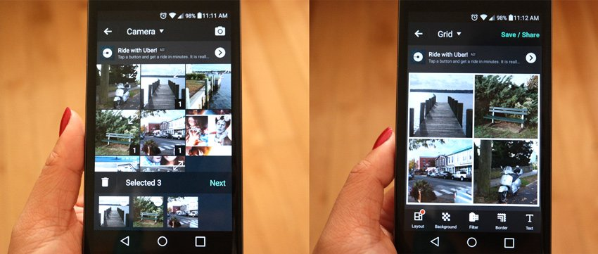 Selecting Photos and Layouts with PhotoGrid