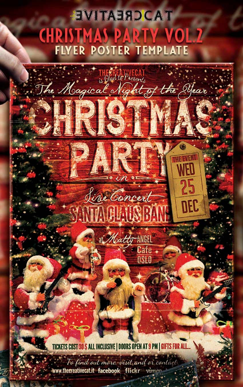 Christmas Party-Vintage Style Flyer