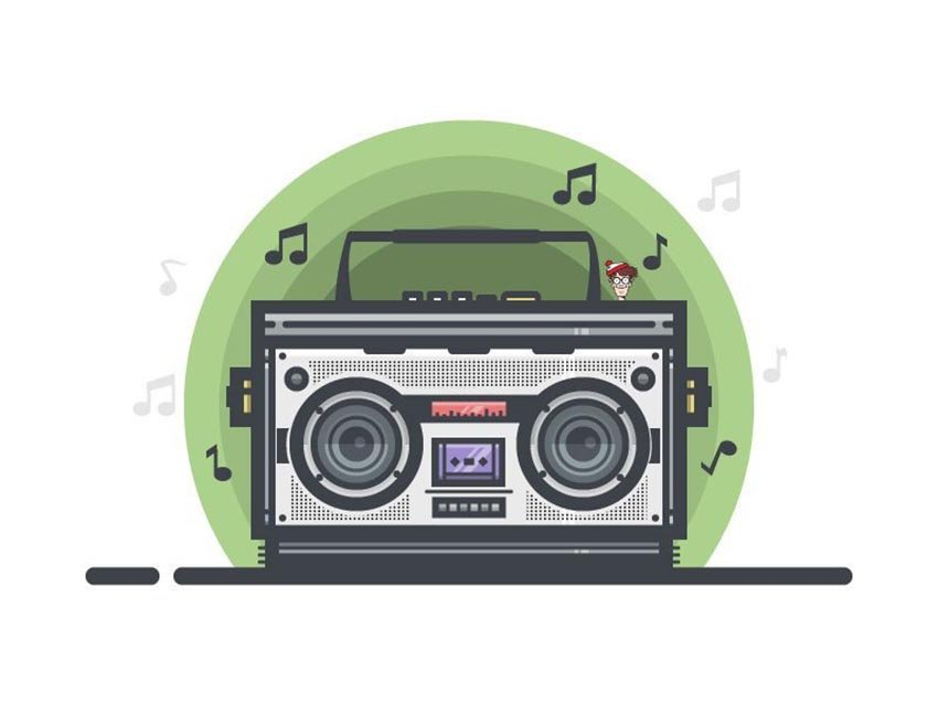 Vector Boombox Illustration by Nobby