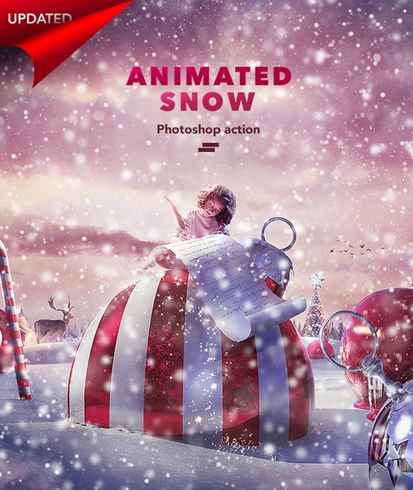 Gif Animated Snow Photoshop Action