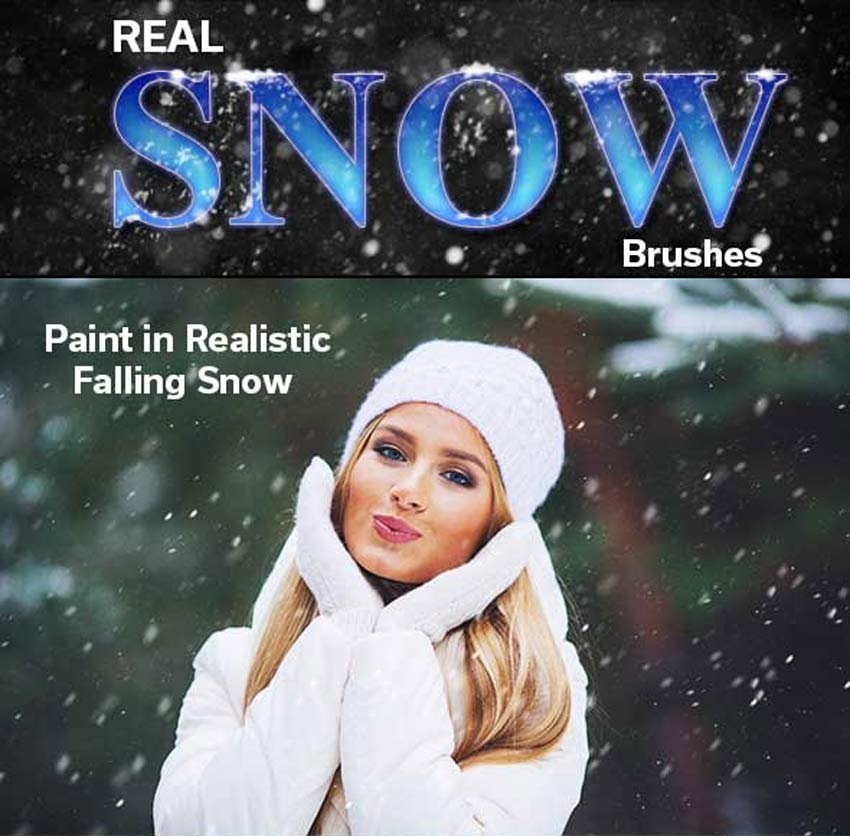 Real Snow Photoshop Brushes