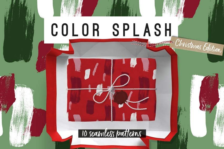 Color Splash Patterns - Christmas Edition