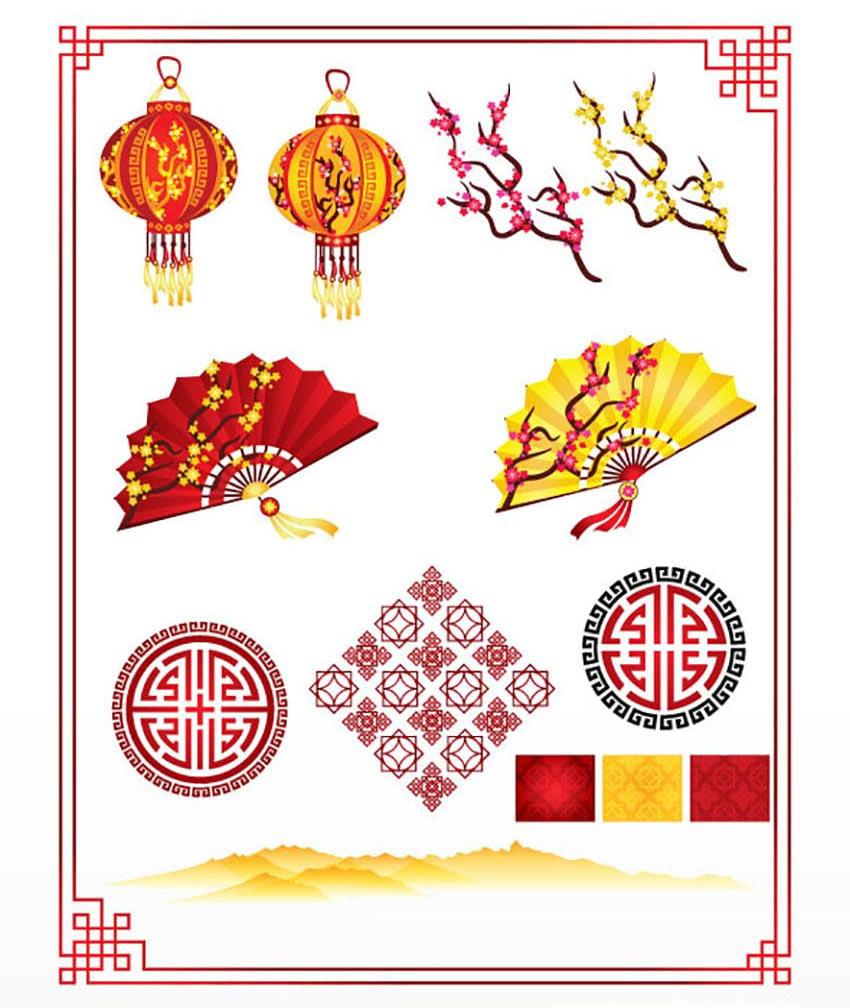 Mandarin Vector Illustrations