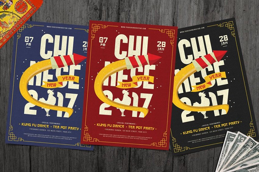 Modern Chinese New Year Flyer