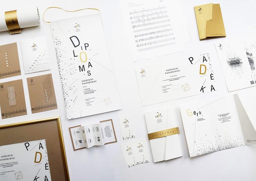 Visual Identity for Kaunas First Music School by Aureja Juceviciute