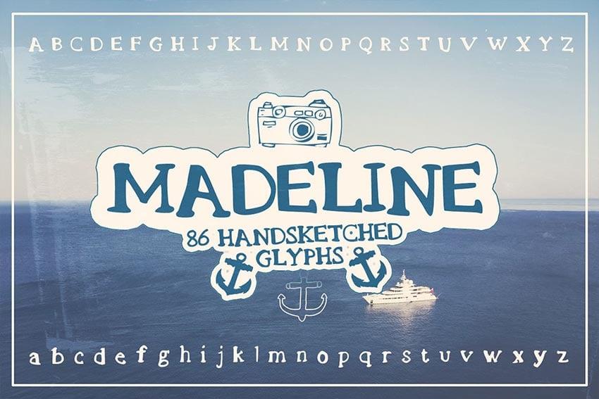 Madeline Handsketched Font