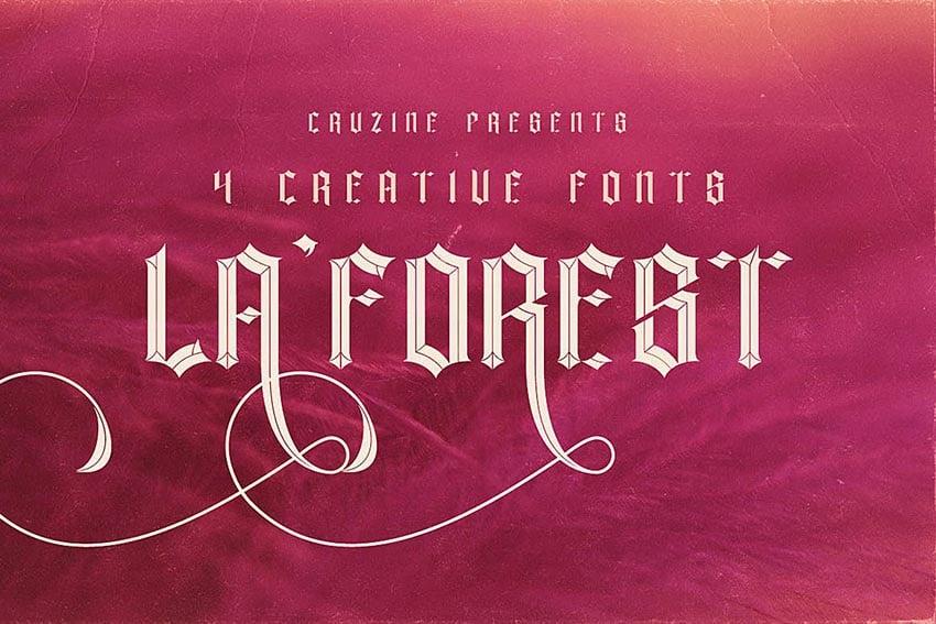 La Forest Typeface