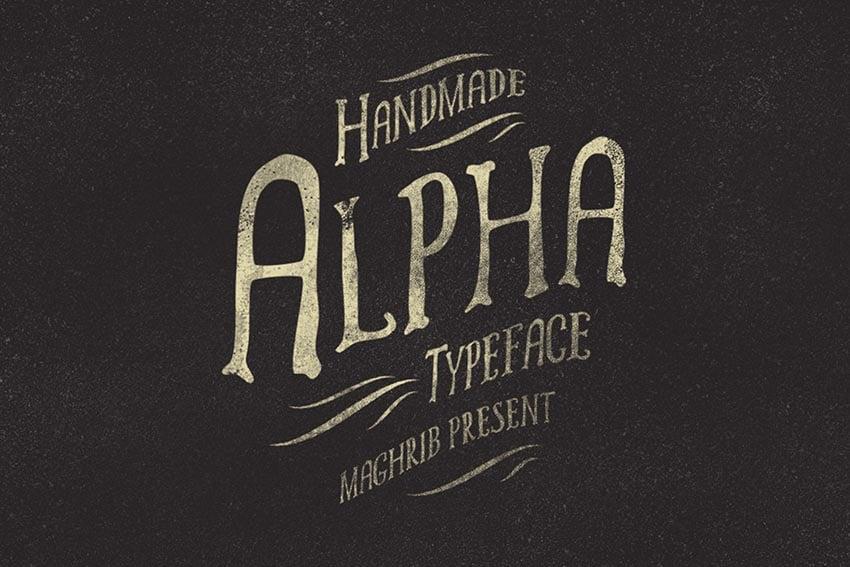 Alpha Rough Font