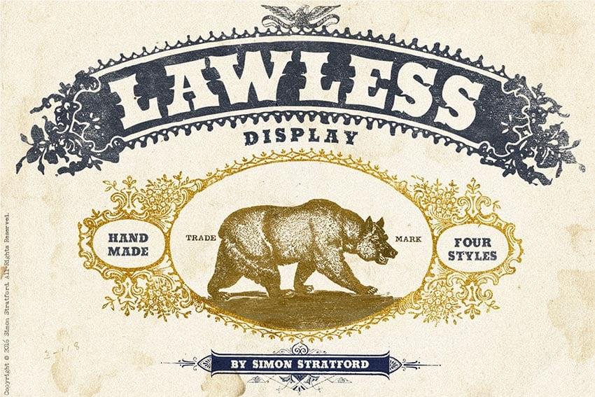 Lawless font