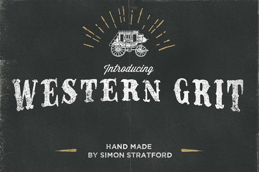 Western Grit Font