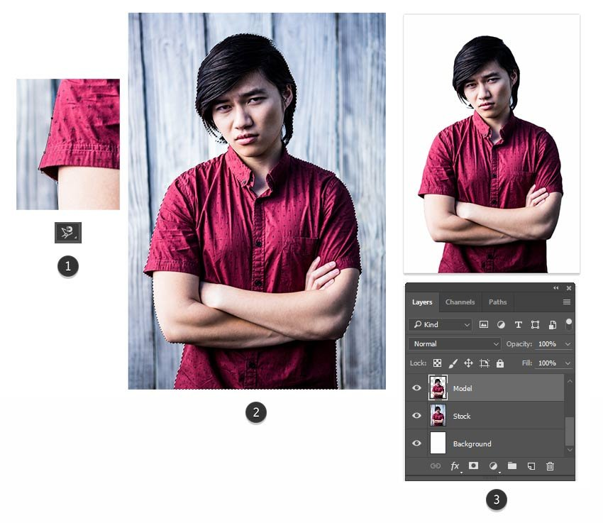 Use the Magnetic Lasso Tool to Extract the Subject