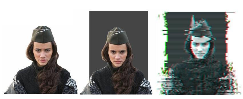 Alternative Glitch Version with Rectangle Background