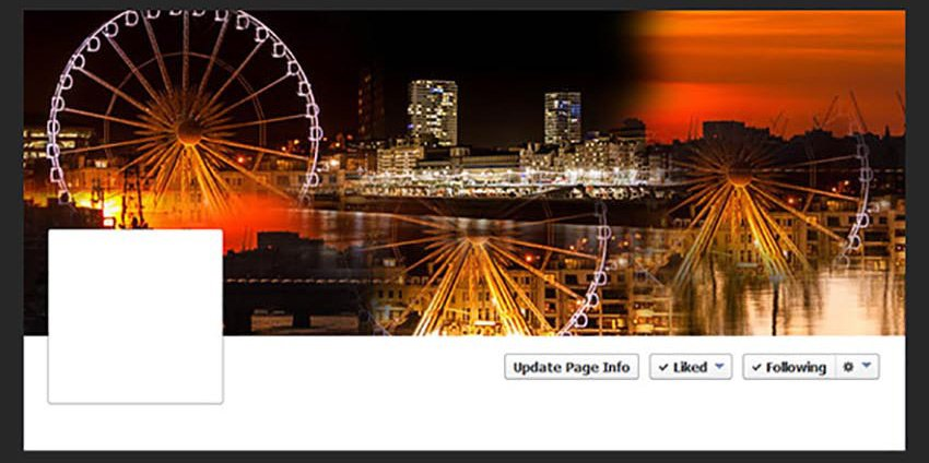 Facebook Cover Seamless Blended Collages