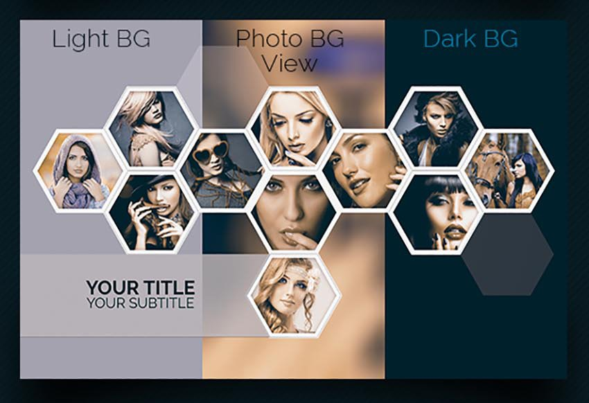 Polygons Photo Collage Templates