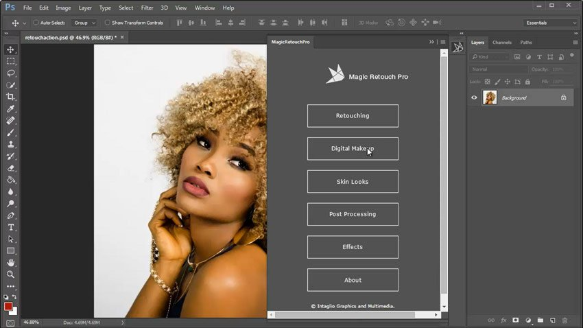 Using the Plugin Panel for Magic Retouch Pro