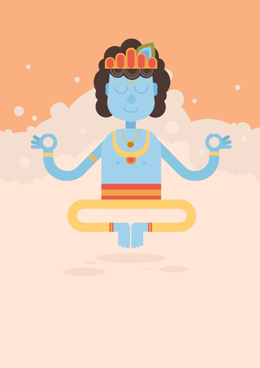 Krishna Illustration by Luana Albino