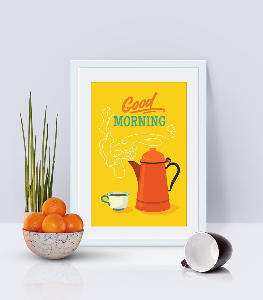 Retro Illustrator Poster by Mary Lee
