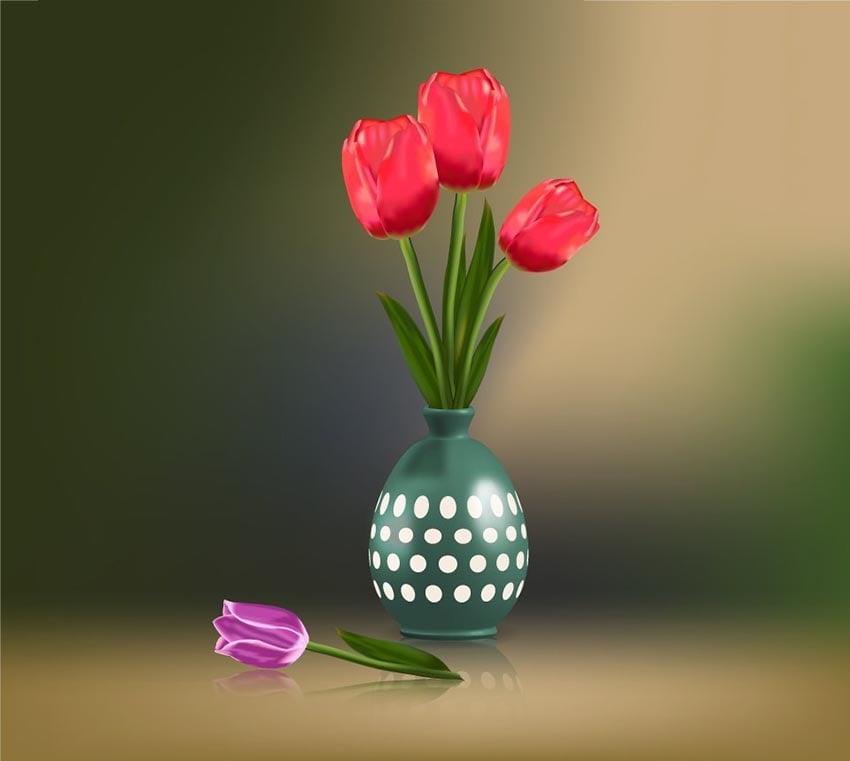 Tulip Illustration by NataBena