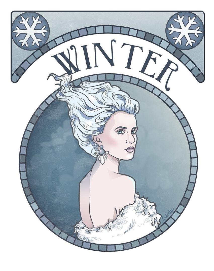 Winter Character Illustration by Patrycja Sklodowska