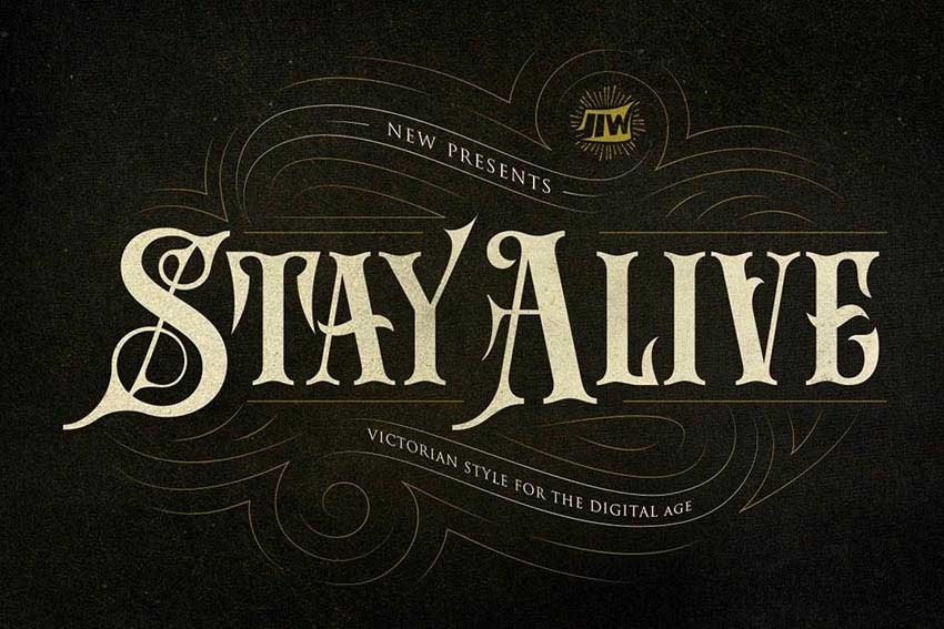 Stay Alive Font