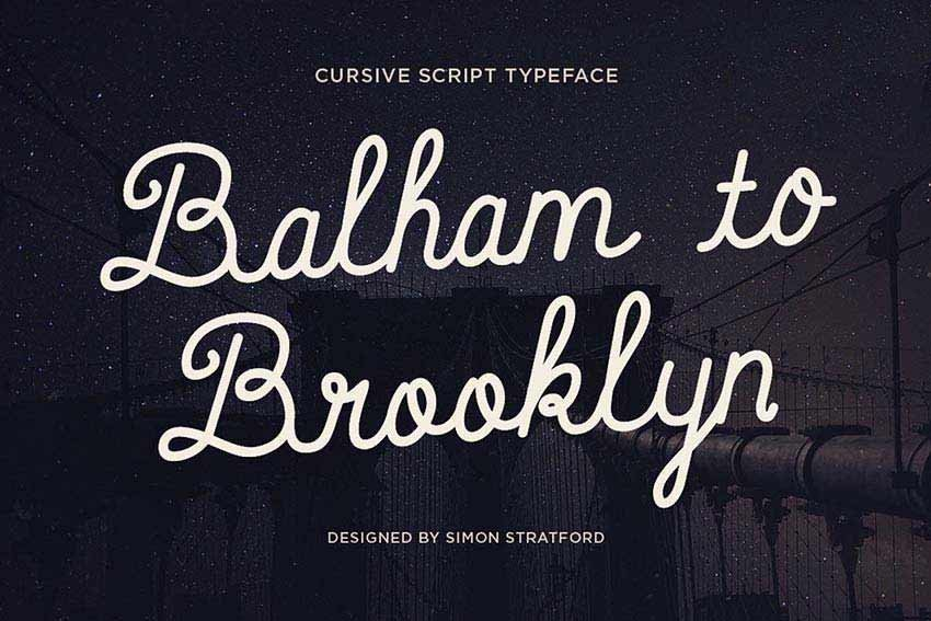 Balham to Brooklyn Font
