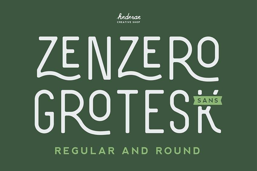 Zenzero Sans Font