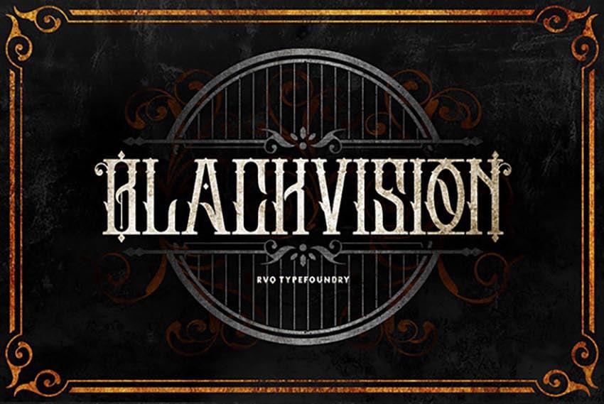 Black Vision Font