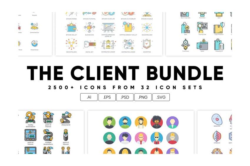The Client Bundle 2500 Icons