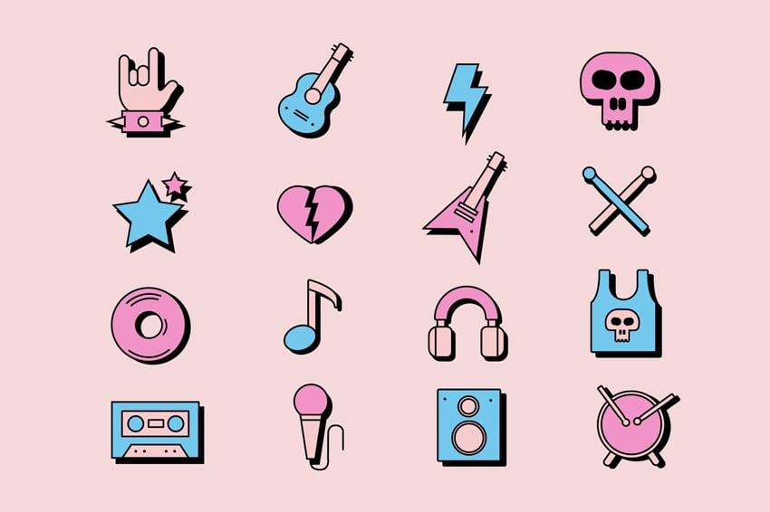 RocknRoll Icons