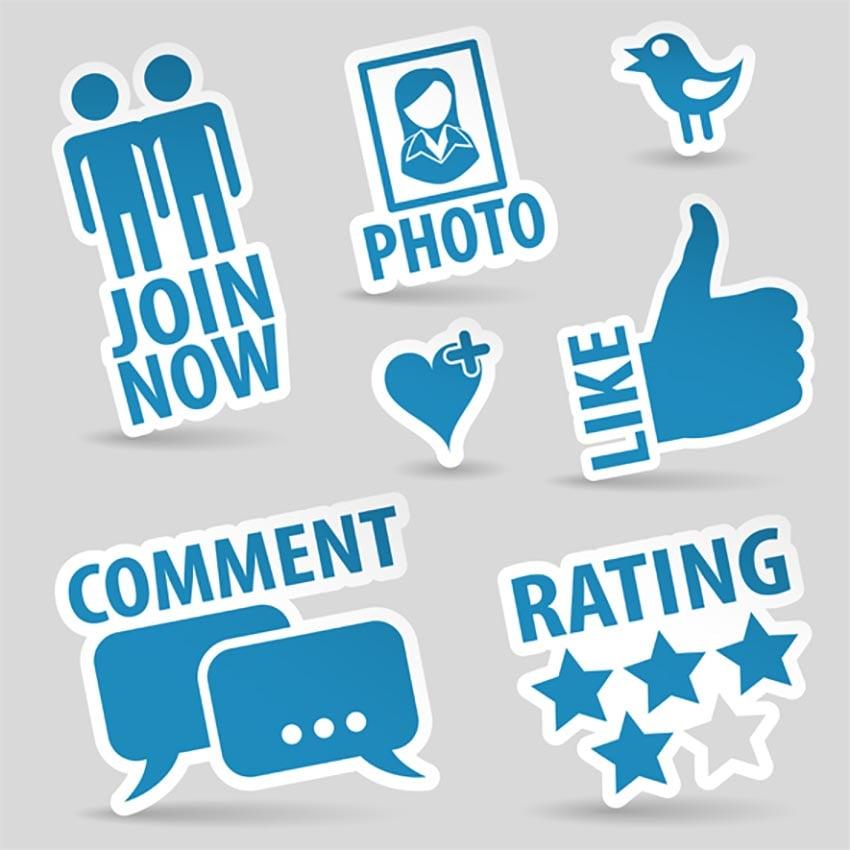 Blue Set - Social Media Icons
