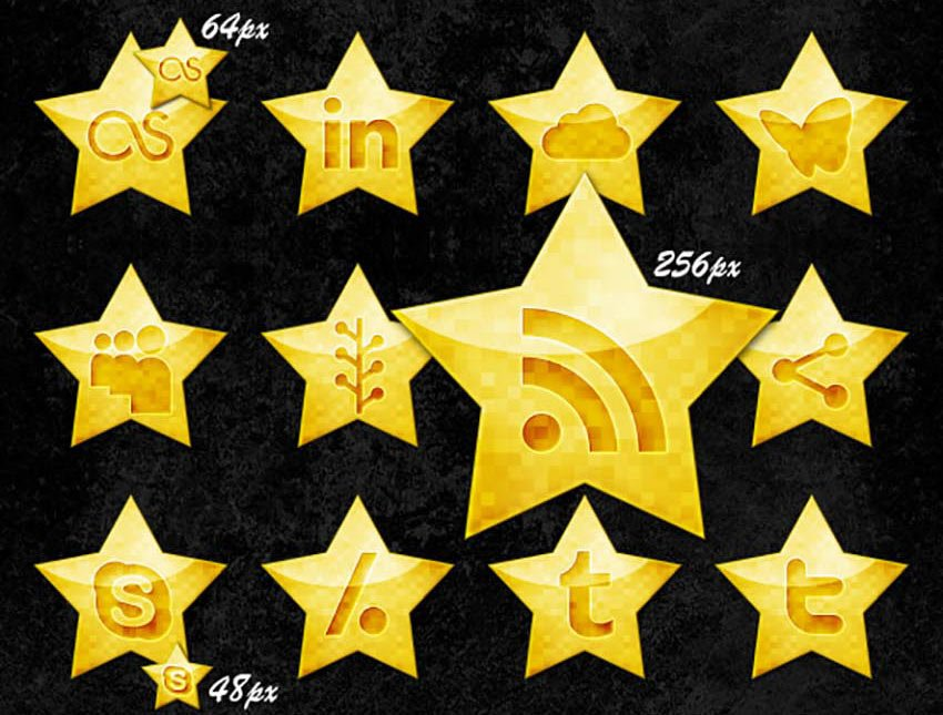 Starrycons - Social Media Icons