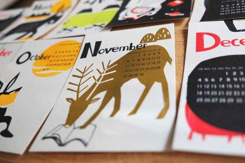 2016 Calendar Illustrations by Kyoko Nemoto
