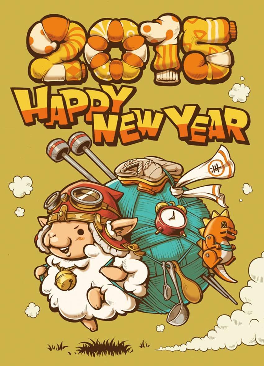 New Year Card 2015 Art by Seimi Oshiro
