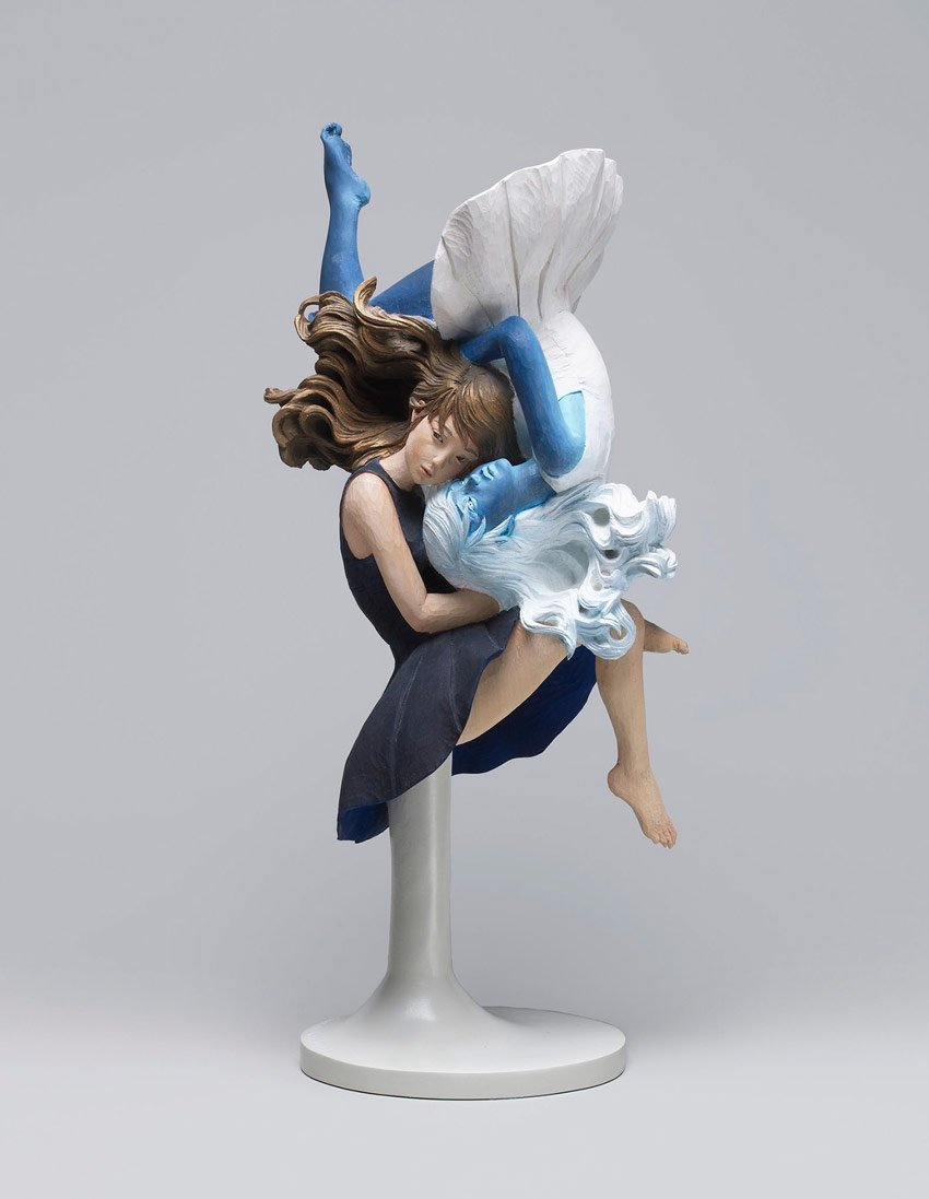 Reverse Dualism Sculpture by Yoshitoshi Kanemaki